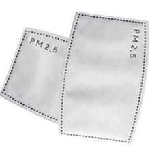 50 zakken 5 lagen activated carbon filter N95 efficiënte filtratie PM 2.5 anti Haze Mondmasker vervangbare filter voor mond-dempen