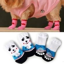 2 paar schattige puppy honden Pet gebreide anti-slip sokken (Panda)
