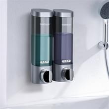 Bosharon Shampoo Douche Gel Box Household Hand Sanitizer Box Badkamer Muur gemonteerde Punch-free Double-head Soap Dispenser  Style: Double Grid (Zilvergrijs)