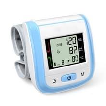 2 PC'S gezondheidszorg automatische pols bloeddruk monitor digitale LCD pols manchet bloeddruk meter (blauw)