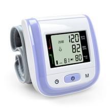 2 PC'S gezondheidszorg automatische pols bloeddruk monitor digitale LCD pols manchet bloeddruk meter (paars)