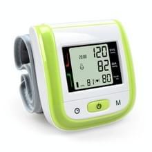 2 PC'S gezondheidszorg automatische pols bloeddruk monitor digitale LCD pols manchet bloeddruk meter (groen)