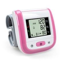 2 PC'S gezondheidszorg automatische pols bloeddruk monitor digitale LCD pols manchet bloeddruk meter (roze)