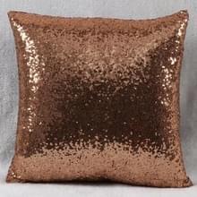 KL-1-14 Glitter Sequins Sofa Throw Pillow Cover Voor Home Decoratie Sofa Cushion Case (Koffie)