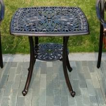 Europese Simple casual outdoor ijzeren gegoten aluminium Outdoor kleine ronde tafel (zwart)