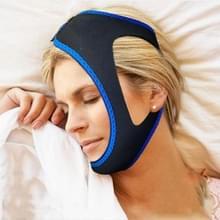 Driehoekige boeien met Kinriemen voor mannen en vrouwen om snurken te voorkomen (blauw)