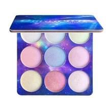 CmaaDu 3 stuks oogschaduw palet sterk gepigmenteerde waterdichte gezicht lippen markeerstift pailletten glitter palet cosmetische (01)