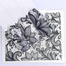 10 stuks Lace bloem design Nail sticker decal water Transfer (YZW-8636)