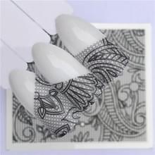 10 stuks Lace bloem design Nail sticker decal water Transfer (YZW-8637)