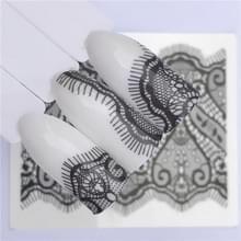 10 stuks Lace bloem design Nail sticker decal water Transfer (YZW-8640)