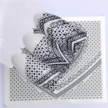 10 stuks Lace bloem design Nail sticker decal water Transfer (YZW-8646)