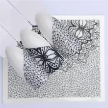10 stuks Lace bloem design Nail sticker decal water Transfer (YZW-8648)