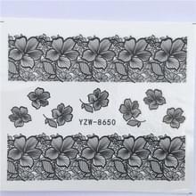 10 stuks Lace bloem design Nail sticker decal water Transfer (YZW-8650)