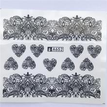 10 stuks Lace bloem design Nail sticker decal water Transfer (YZW-8652)