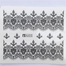 10 stuks Lace bloem design Nail sticker decal water Transfer (YZW-8655)