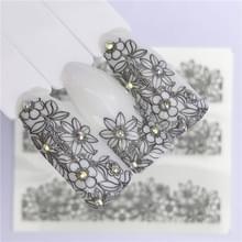 10 stuks Lace bloem design Nail sticker decal water Transfer (YZW-8667)