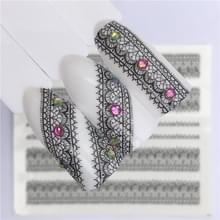 10 stuks Lace bloem design Nail sticker decal water Transfer (YZW-8668)