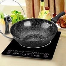 Maifanshi non-stick huishoudelijke olievrije platte Wok is geschikt voor gasfornuis inductie kookplaat  grootte: 30cm (pot + deksel)