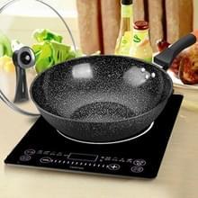 Maifanshi non-stick huishoudelijke olievrije platte Wok is geschikt voor gasfornuis inductie kookplaat  grootte: 32cm (pot + deksel)