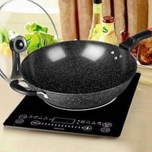Maifanshi non-stick huishoud olie-vrije platte Wok is geschikt voor gaskookplaat inductie kookplaat  grootte: 34cm (pot + deksel)