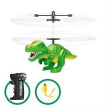 Elektrische RC vliegen speelgoed infrarood sensor dinosaurus model helikopter LED flash verlichting USB opladen kleine RC speelgoed voor kinderen (groen)