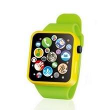Kinderen vroege onderwijs Toy polshorloge 3D touch screen muziek slimme onderwijs kinderen verjaardagsgiften (groen)