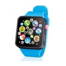 Kinderen vroege onderwijs speelgoed polshorloge 3D touch screen muziek slimme onderwijs kinderen verjaardag geschenken (blauw)