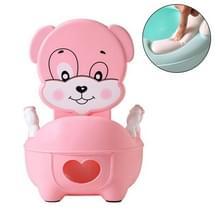 Baby Potty Toilet Bowl Training Seat Portable Urinoir Comfortabele Rugleuning Cartoon Cute Toilet (Gewatteerde roze schattige hond)