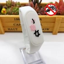 4 PCS Kinderen Anti-mug Plant Essential Oil Repellent Sports Bracelet (Wit)