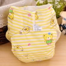 Cartoon Bear patroon Waterdicht ademend Baby katoen doek luier geel  maat: L