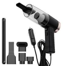 Auto Drie-in-een stofzuiger 120W nat en droog dual-use sterke zuigkracht met Aromatherapie Lamp Stofzuiger (Zwart)