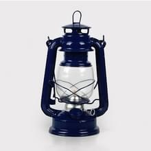 Retro nostalgische smeedijzeren draagbare Putdoor tent camping licht (donkerblauw)
