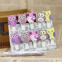Mini Owl hennep hout clip creatieve cartoon kleine houten clip foto clip
