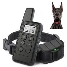 500m Dog Training Bark Stopper Afstandsbediening Elektrische Schok waterdichte elektronische kraag (Zwart)
