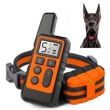 500m Dog Training Bark Stopper Afstandsbediening Elektrische Schok waterdichte elektronische kraag (Oranje)