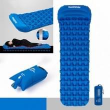 Naturehike Ultralight Opblaasbare Kussen Outdoor Tent Slaappad Portable Camping Single Lunch Break Air Bed verdikt vochtbestendig kussen  stijl: single met kussen + opblaasbare tas (Diwa Blue)