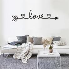2 PC'S liefde patroon DIY familie huis muur sticker verwisselbare decor muur stickers