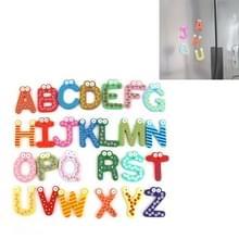 26 PCS kinderen voorschoolse educatie cartoon houten grote Engels Alfabet dierlijke koelkast magneet