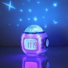 Eenvoudige student muziek kalender wekker creatieve kleurrijke decompressie elektronische klok ster Projectieklok
