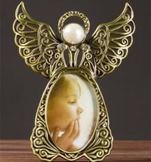 3 inch Angel Wings metalen vintage foto frames creatieve geschenken Foto's frames (goud)
