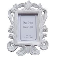 10 stuks Vintage decoratieve bloem foto frame bruiloft Home decor desktop picture frame (wit)