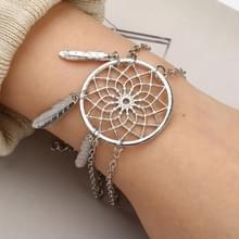 Zilveren kleur Dreamcatcher charme armbanden voor vrouwen