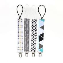4 PCS/Set Baby Pacifier Chain Clip Katoendubbel geprinte fopspeenketting (kruispijl)