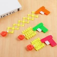 3 stuks Children's Toy Gun Creative intrekbare vuist pistool mini grappige Bullet Gun voorjaar Magic Gun klein speelgoed  willekeurige kleur