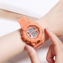 2 PCS Children Outdoor Sports Watch Multi-function Electronic Watch (Orange)