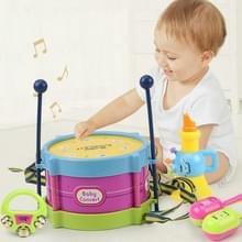 Kinderen Muziekinstrument Verlichting Plastic Hand Kloppen Blow Kleine Taille Drum 5 PCS / Set