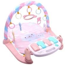 Baby vroege onderwijs Toy Baby piano fitness frame kruipen deken pasgeboren baby speelgoed (roze)