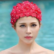 Pearl Driedimensionaal handgemaakte bloem zwempet voor vrouwen (Rood)