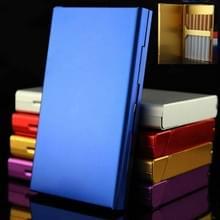 Ultra-thin Personality Creative Ladies Cigarette Case Metal Cigarette Case(Blue)