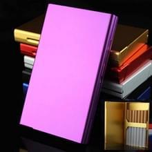 Ultra-dunne persoonlijkheid Creatieve Dames Sigaret Case Metal Cigarette Case (Paars)